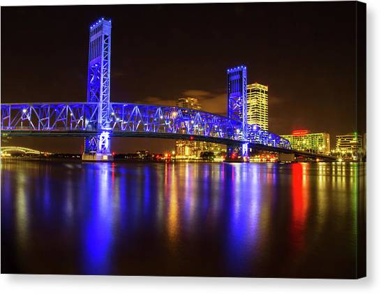 Blue Bridge 3 Canvas Print