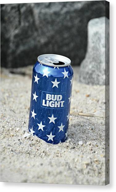 Blue Bud Light Canvas Print
