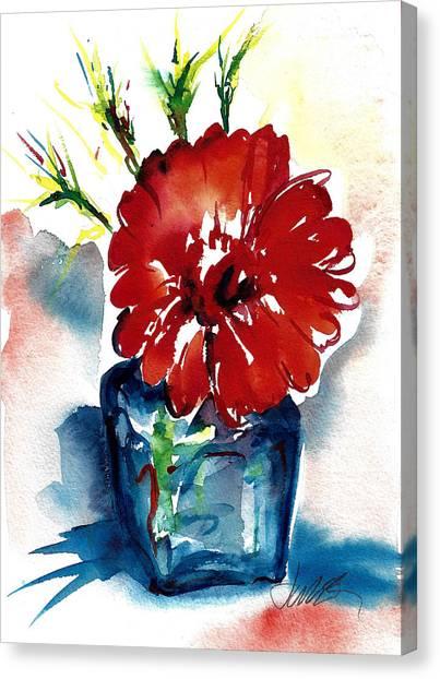 Blue Bud Vase Canvas Print