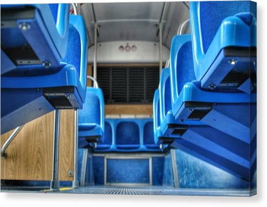 Blue Bus Seats Canvas Print