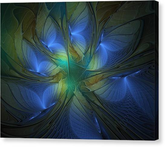 Apophysis Canvas Print - Blue Butterflies by Amanda Moore
