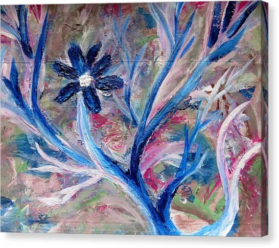 Pink Camo Canvas Print - Blue Camo by Raissa Karlsen