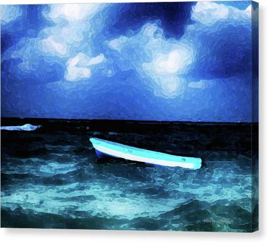 Blue Cancun Canvas Print