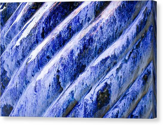 Ceramic Glazes Canvas Print - Blue Ceramic by Tom Gowanlock