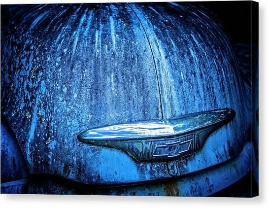 Blue Chevy Canvas Print