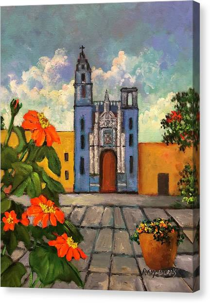 Blue Church   Iglesia Azul Canvas Print