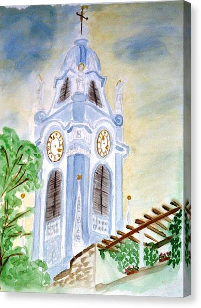Blue Church Tower  Canvas Print