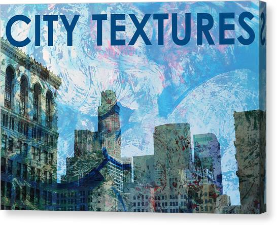Blue City Textures Canvas Print