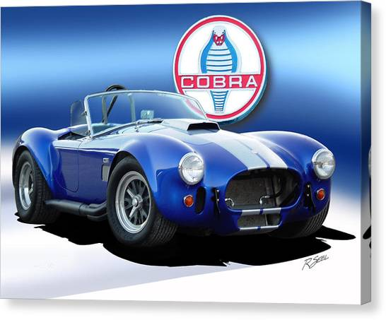 Blue Cobra Canvas Print