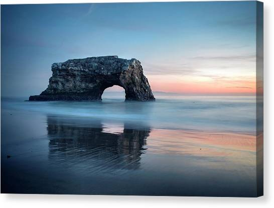 Canvas Print featuring the photograph Blue Cotton Candy At Dusk by Quality HDR Photography