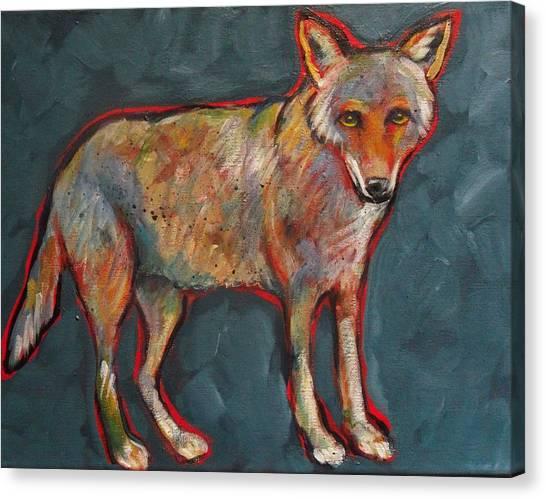 Blue Coyote Santa Fe Style Canvas Print