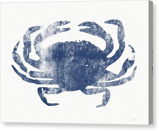 Crabs Canvas Print - Blue Crab- Art By Linda Woods by Linda Woods