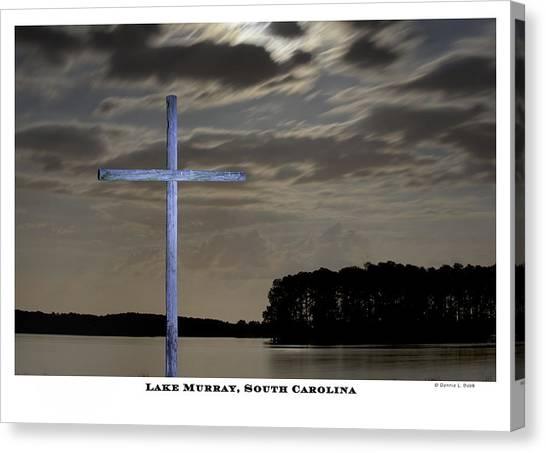 Blue Cross Canvas Print by Donnie Bobb