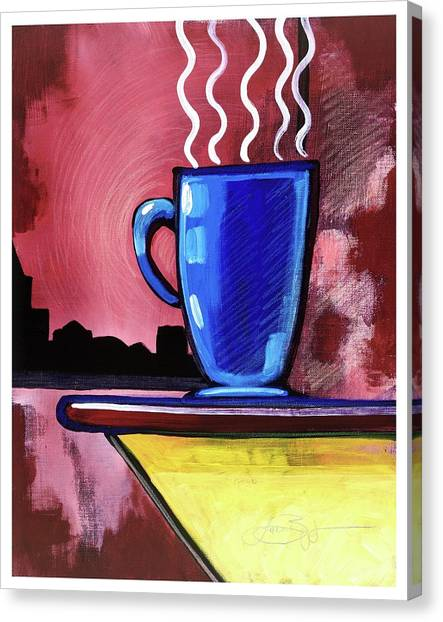 Blue Cup Canvas Print