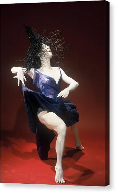 Blue Dancer Right View Canvas Print by Gordon Becker