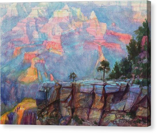 Canyons Canvas Print - Blue Depths by Steve Henderson
