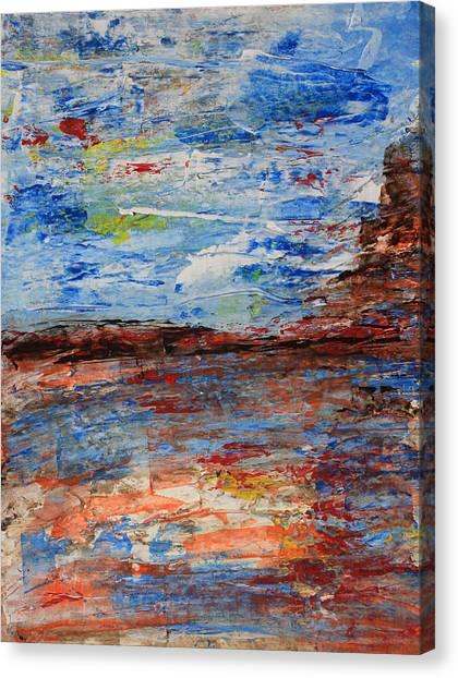 Blue Desert Canvas Print