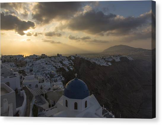 Blue Dome - Santorini Canvas Print