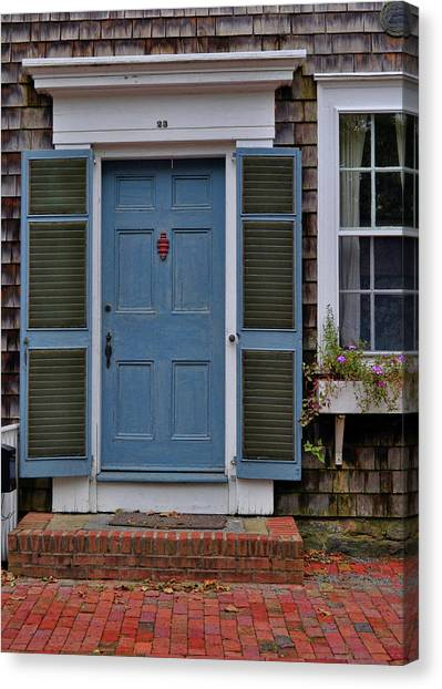 Nantucket Blue Door Canvas Print by JAMART Photography