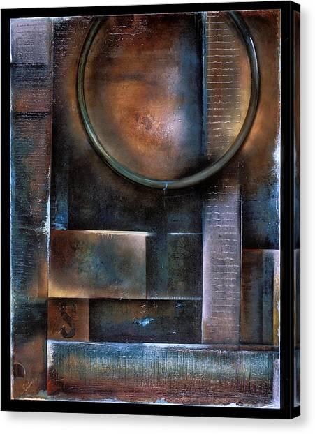 Blue Drop Canvas Print by Stephen Schubert