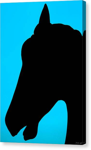 Blue Equus Canvas Print