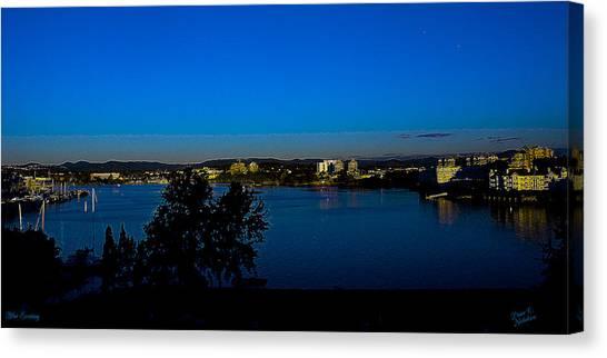 Blue Evening Canvas Print by Diane C Nicholson