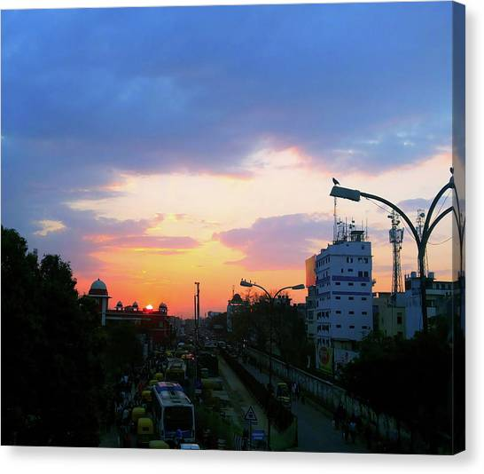 Blue Evening Sky Canvas Print