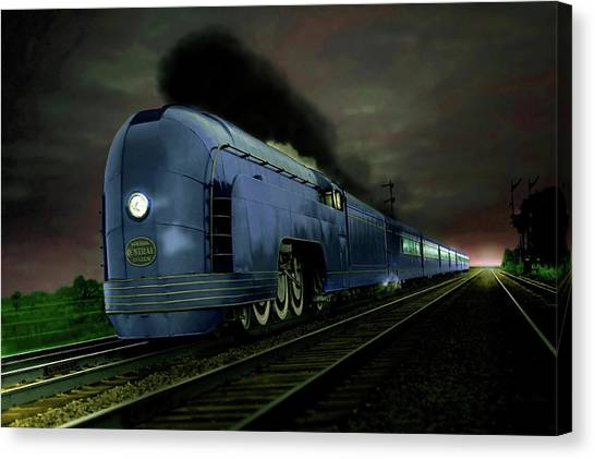 Blue Express Canvas Print