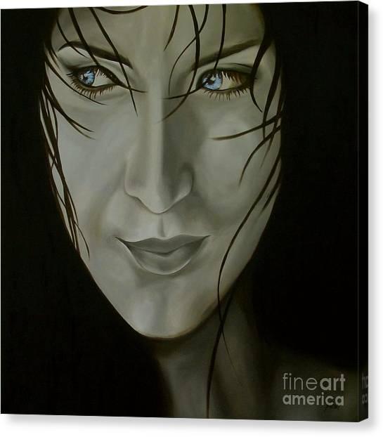 Blue-eyed Girl Canvas Print