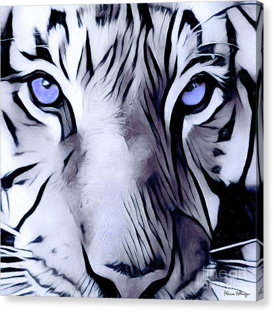 Blue Eyed Tiger Canvas Print