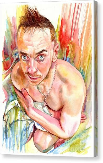 Toes Canvas Print - Blue Eyes Heartbreaker by Suzann's Art