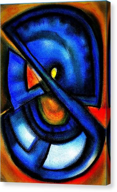 Blue Fans - Pastels Canvas Print by J Kamaru
