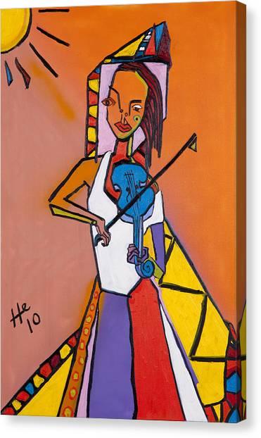 Blue Fiddler 36x24 Canvas Print