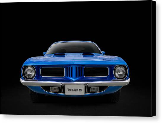Muscle Cars Canvas Print - Blue Fish by Douglas Pittman
