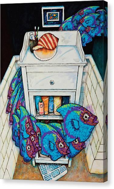 Canvas Print - Blue Fish by Rich Travis