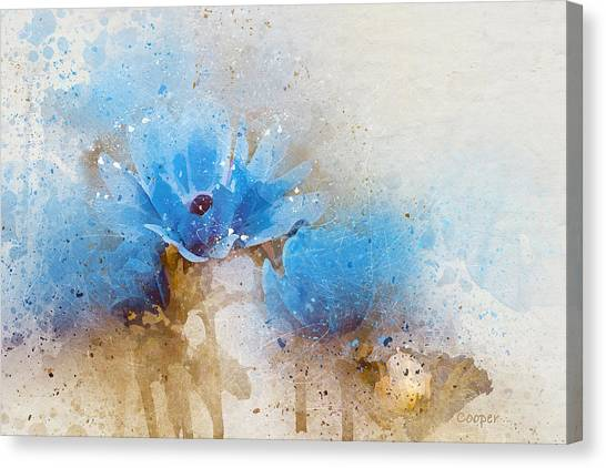 Blue Flowers 4a Canvas Print