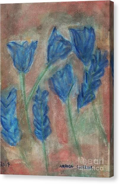 Blue Flowers Canvas Print by Amanda Currier