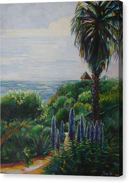 Blue Flowers Canvas Print by Karen Doyle