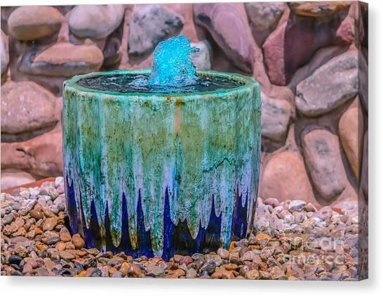 Blue Fountain Canvas Print