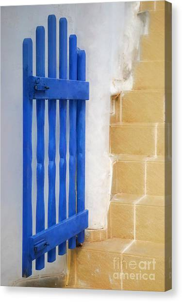Greece Canvas Print - Blue Gate by HD Connelly
