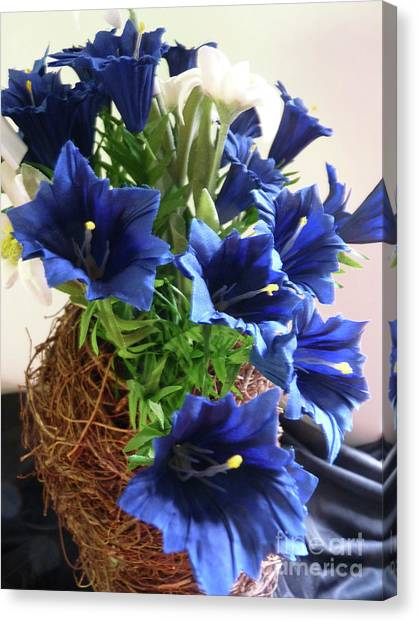 Blue Gentian  Canvas Print