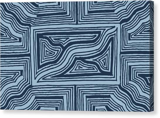 Blue Geo Canvas Print