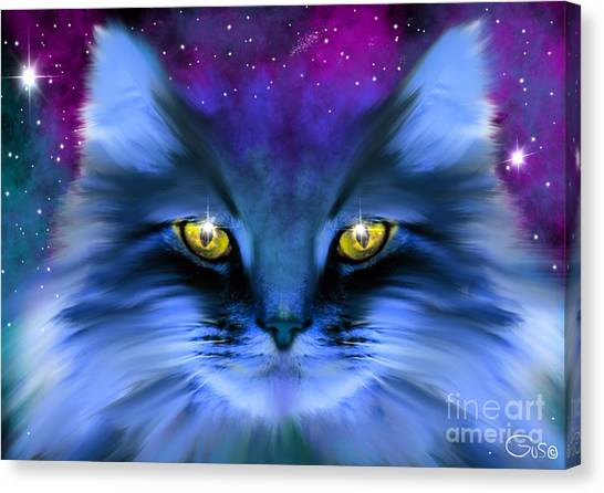 Canvas Print - Blue Ghost Cat by Nick Gustafson