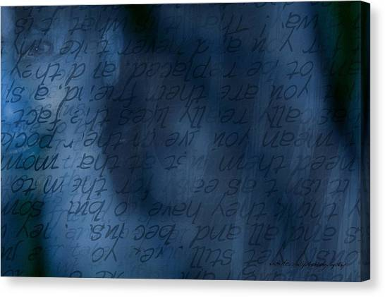 Blue Glimpse Canvas Print