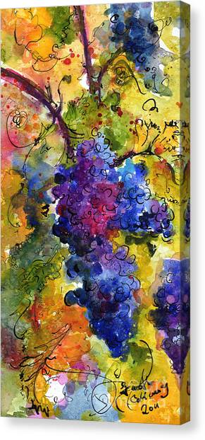 Blue Grapes Canvas Print
