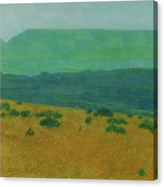 Blue-green Dakota Dream, 1 Canvas Print