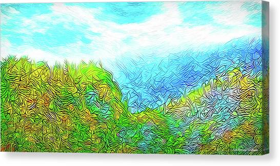 Blue Green Mountain Vista - Colorado Front Range View Canvas Print
