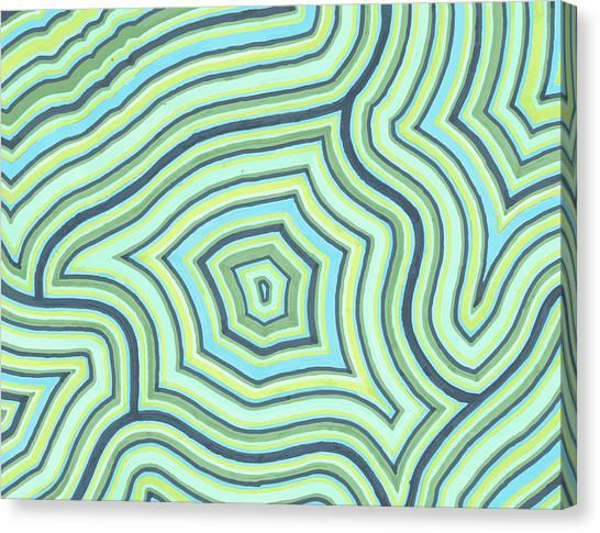 Blue Green Pattern Play Canvas Print