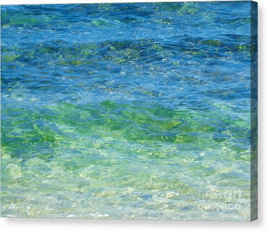 Blue Green Waves Canvas Print