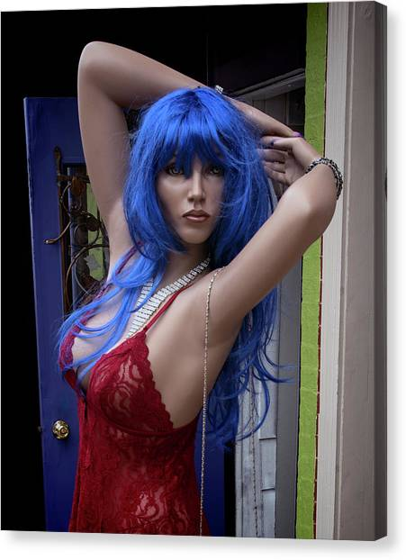 Canvas Print - Blue Haired Girl by Murray Bloom